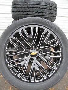 22 Chevrolet Suburban Tahoe Oe Style Black Milled New Wheels And Tires 5906
