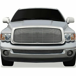 Billet Replacement Grille For 2002 2005 Dodge Ram 1500 chrome Abs Premium Fx
