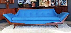 Mid Century Modern Gondola Style Sofa Inspired By Adrian Pearsall