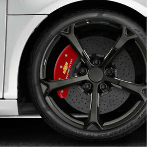 Caliper Covers Red Set Of 4 Engraved chevy Racing Fits 2016 2018 Chevy Volt