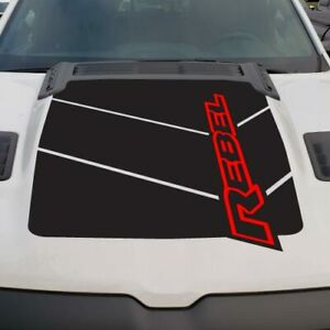 2019 Dodge Ram Hood 4x4 Decal Rebel Modern Stripe Vehicle Graphic Grunge Pickup