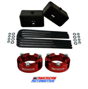 3 Front 3 Rear Red Leveling Lift Kit For 2005 2020 Toyota Tacoma 4wd