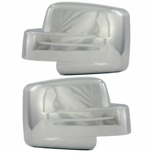 Full Triple Chrome Mirror Cover Set For 07 13 Jeep Patriot