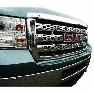 Chrome Grille Overlay Factory Style For 2011 2013 Gmc Sierra Hd