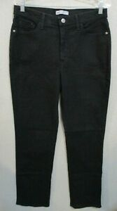 Lee Black Classic Fit Straight Leg Jeans Size 12 High Rise 32