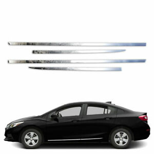 4p Stainless Side Molding Fits 2012 2016 Chevy Cruze By Brighter Design