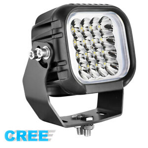 5 80w Cree Led Driving Spot Lights Round Square Offroad Work Headlight Lamp 4wd