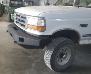 Ford Front Winch Bumper 92 96 F 150 F 250 F 350 Bronco Fully Adjustable