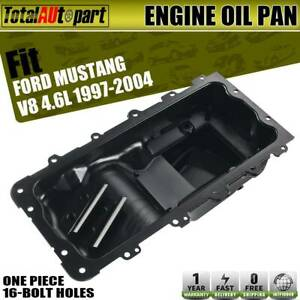 For Ford Mustang 1997 2004 4 6l V8 Rear Engine Oil Pan Sump Steel 16 Bolt Holes