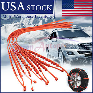 10 Pcs Snow Tire Chain For Car Truck Suv Anti Skid Emergency Winter Driving Us