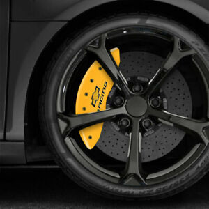 Yellow Mgp Chevy Racing Caliper Covers For 2010 2015 Chevy Camaro V6