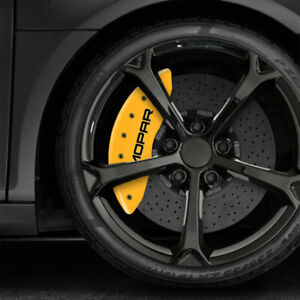 Yellow Mgp Caliper Covers W Mopar Fits 2011 2019 Dodge Durango