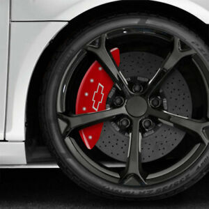 Red Mgp Caliper Covers W Bowtie For 2015 2017 Chevy Ss Fits Brembo