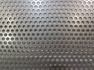 1 4 Holes On 3 8 Centers 16 Ga 304 Stainless Perforated Sheet 12 X 24