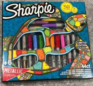New 2019 Limited Edition 44ct Sharpie Permanent Marker Set Nib 6 Coloring Pages