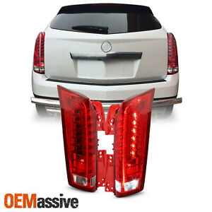 For 2010 2016 Cadillac Srx Led Running Reverse Chrome Red Clear Tail Lights Pair