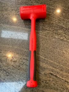 New Snapon Dead Blow Hammer Model Hbfe56 56 Oz Red Soft Grip Handle
