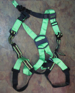 Honeywell Miller Full Body Green Black Harness Fall Protection Universal