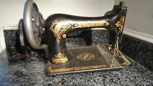 Antique Singer Hand Crank Sewing Machine Dated 1883 N59525 Vintage