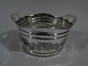 Duhme Ice Bucket Antique Edwardian Barware American Sterling Silver