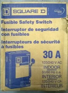 Square D Cd211ncp Fusible Safety Switch 30a 120 240v Ac 50 60 Hz Indoor