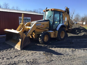 2004 John Deere 310sg 4x4 Tractor Loader Backhoe W Cab A c Clean Municiple Unit