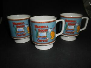 VINTAGE MAXWELL COFFEE CUPS SET OF 3