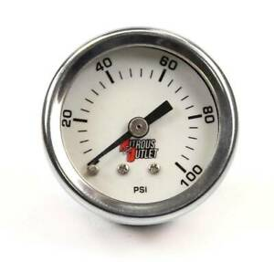 Nitrous Outlet Luminescent Fuel Pressure Gauge 4an Manifold 0 100psi