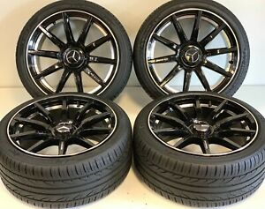 18 Fit Amg Mercedes C430 S550 S600 Rims Tires Package Set Oem Spoke S C E Cl 63