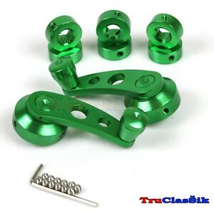 Billet Aluminum Custom Style Usa Green Window Cranks Handles Fits Chevrolet Car