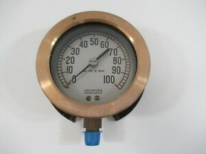 Lunkenheimer 3 Pressure Gauge 0 100 Psi New Without Box Canada Vintage