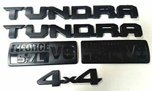 2013 2018 Tundra I Force V8 5 7l Emblems Sticker For Toyota Matte Black Set