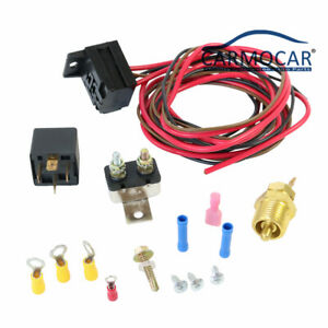 Radiator Engine Fan Thermostat Temperature Switch Relay Kit 427 454 For 3 8