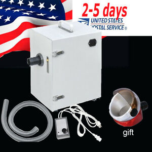 Dental Lab Digital Dust Collector Single row Vacuum Cleaner 70m h suction Base