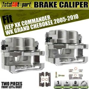 2x Brake Calipers Phenolic Pistons W Bracket For Jeep Commander Grand Cherokee