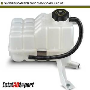 Coolant Recovery Tank Overflow Reservoir W 15psi Cap For Gmc Chevy Cadillac H2