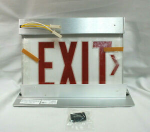 Precise Collection Lithonia F2rp2rwda Edge lit Panel Exit Sign 120 277 New M4669