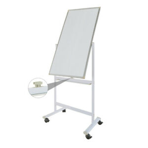 120 60cm Dry Erase Board Stand Magnetic Double Sided Whiteboard Rolling Wheels