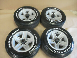 82 92 Camaro Rs Z28 Wheels Silver 15x7 Set Of 4 W Tires 0903 3