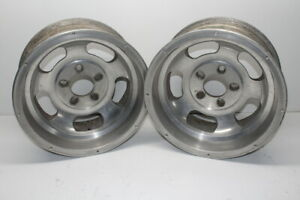 Fenton Mag Aluminum Slotted Wheels 15 X 7 Wide 5 On 4 1 2 5 1 2 Bolt Pattern