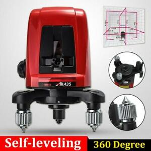 Ak435 360 Degree Self leveling Cross Laser Level 2 Line 1 Point Package Bag