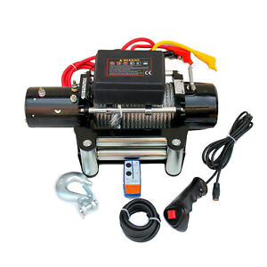 12v Electric Winch12500lb Sound off Auto Brake Ip67 Waterproof Winch Kit