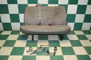 Note 03 16 Express Passenger Van Gray 2nd Second Row Bench Seat W Seat Belts Oe
