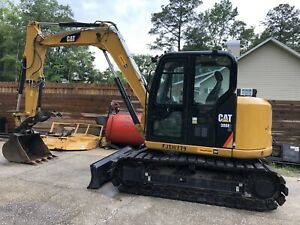 2018 Cat 308e Cr Excavator Tractor Diesel Used Hydraulic Thumb 700 Hours