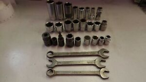 Mac Tools Lot Impacts Sockets Wrenches Mechanic Tools Usa American Free Shipping
