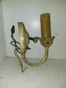Antique Solid Brass Wall Sconce Candle Fixture