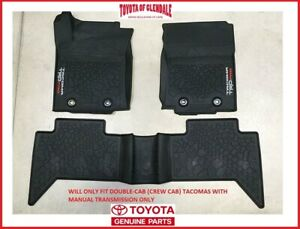 2016 2021 Toyota Tacoma Trd Pro All Weather rubber Floor Mats Manual Transmissio