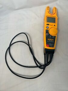 Fluke T6 600 600v Clamp Continuity Current Electrical Tester Euc Tested