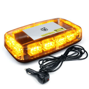 Xprite Amber Yellow Led Strobe Light Bar Warning For Tow Trucks Jeep Roof Beacon