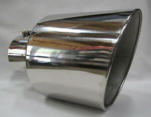 Chevy Duramax Polished Stainless bolt On Diesel Exhaust Tip 5 in 10 Out 15 l
